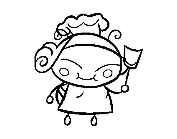 Desenho de Abelha cozinheira para Colorir