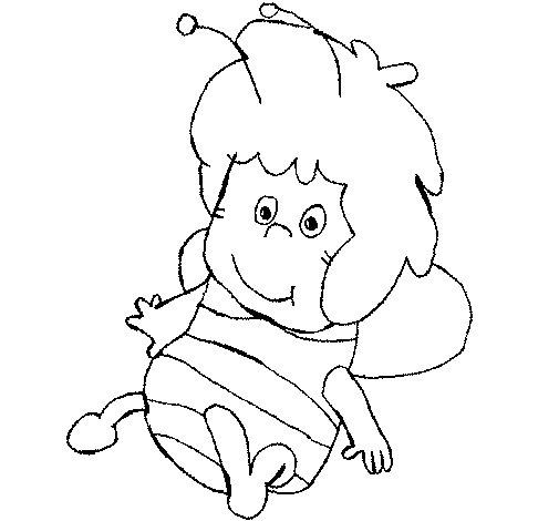 Desenho de Abelha Maia para Colorir