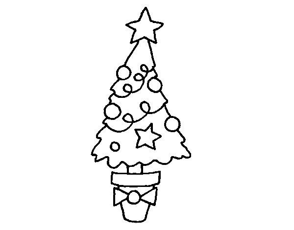 Desenho de Abeto de Natal para Colorir