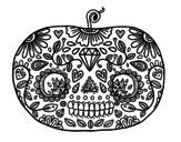 Desenhos de Dia dos Mortos