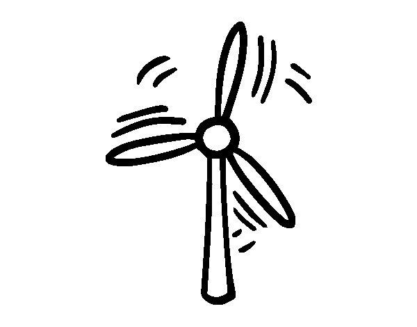 Desenho de Aerogerador para Colorir