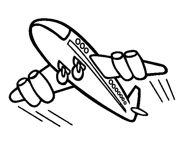 Desenho De Aeroplano Rápido Para Colorir