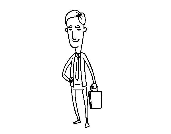 Desenho de Agente comercial para Colorir