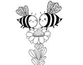 Dibujo de Algumas abelhas