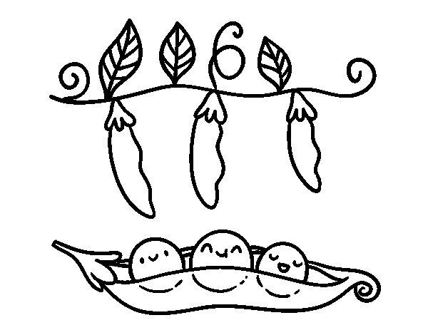 Desenho de Algumas ervilhas para Colorir