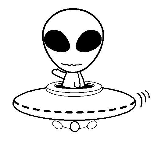 Desenho de Alienígena para Colorir