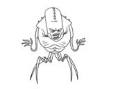 Desenho de Alieno aracnide para colorear