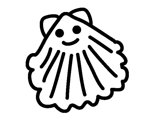 Desenho de Ameijoa feliz para Colorir
