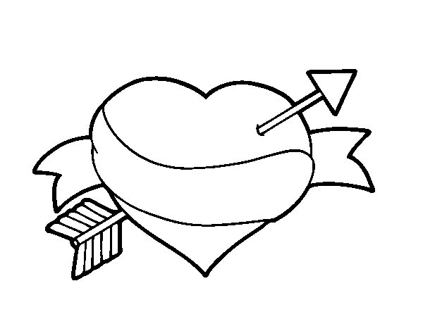 Desenho de Amor à primeira vista para Colorir