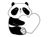 Dibujo de Amor Panda