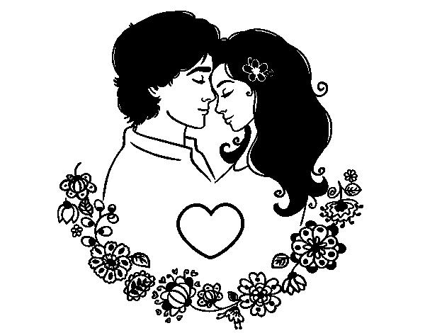 Desenho De Amor Perfeito 2 Para Colorir