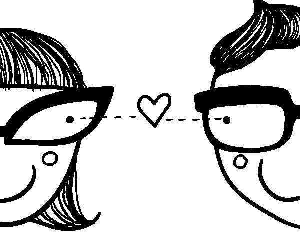 Desenho de Amor repentino para Colorir
