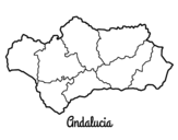 Desenho de Andaluzia para colorear
