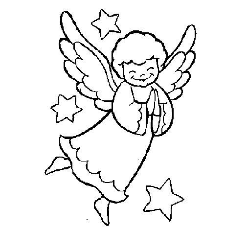 Desenho de Anjinho para Colorir