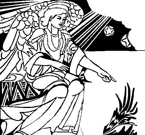 Desenho de Anjo da manjedoura para Colorir