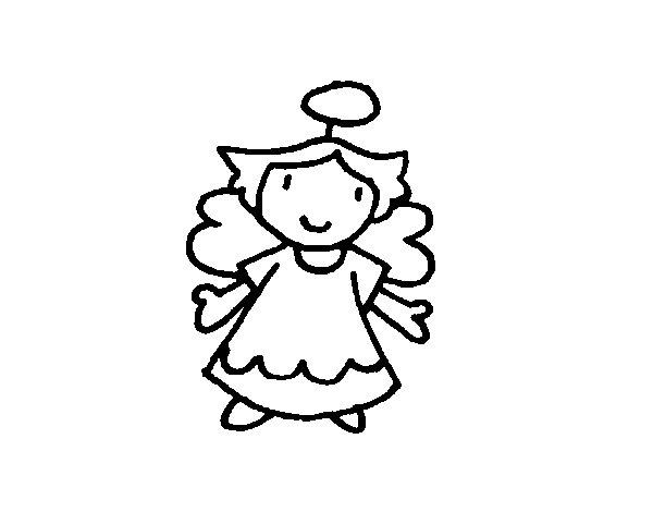 Desenho de Anjo fêmea para Colorir