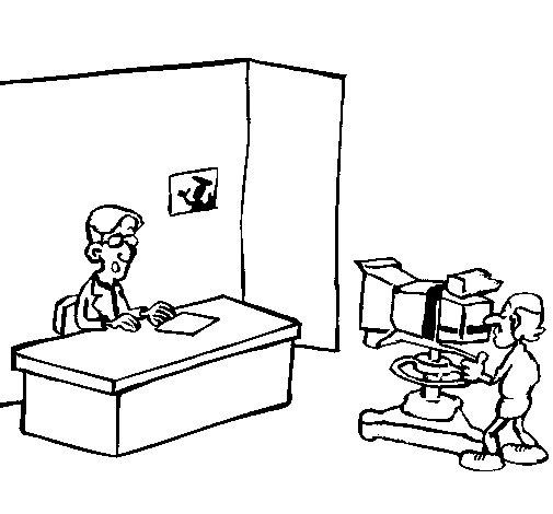 Desenho de Apresentador de televisão para Colorir