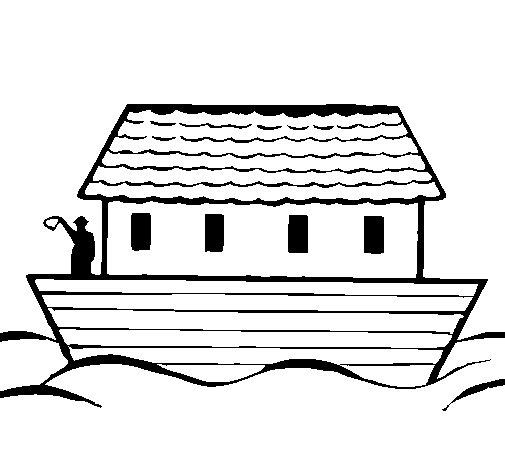 Desenho de Arca de Noé para Colorir