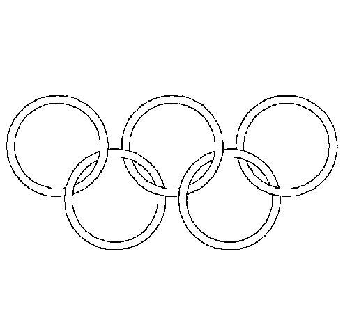 Desenho de Argolas dos jogos olimpícos para Colorir
