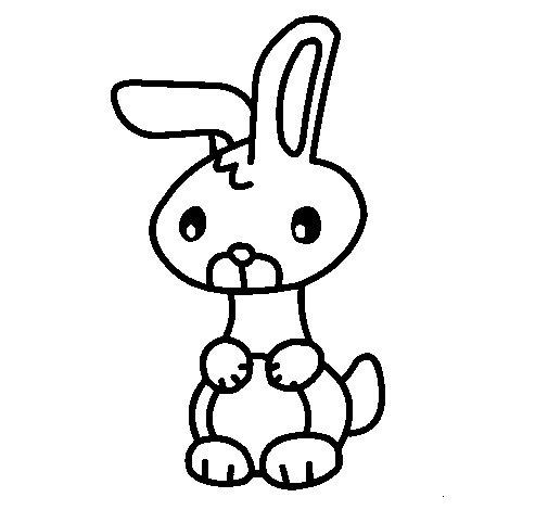 Desenho de Art o coelho para Colorir