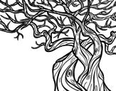 Desenho de Árvore fantasmal para colorear