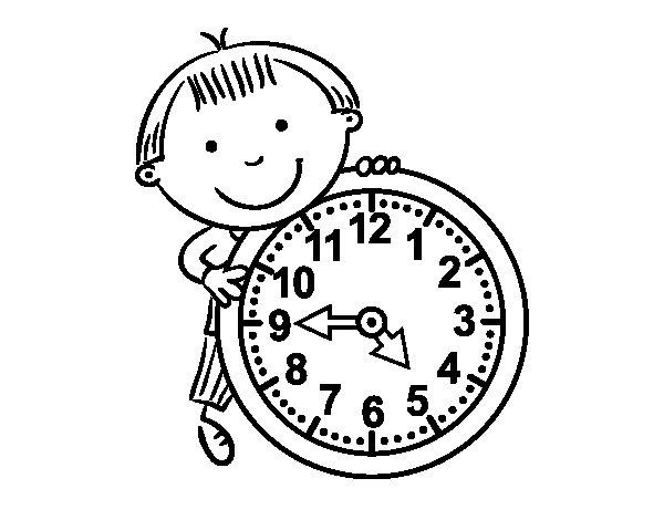Desenho de As horas para Colorir