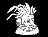 Desenho de Asteca para colorear