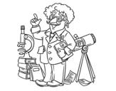 Desenho de Astrônomo para colorear