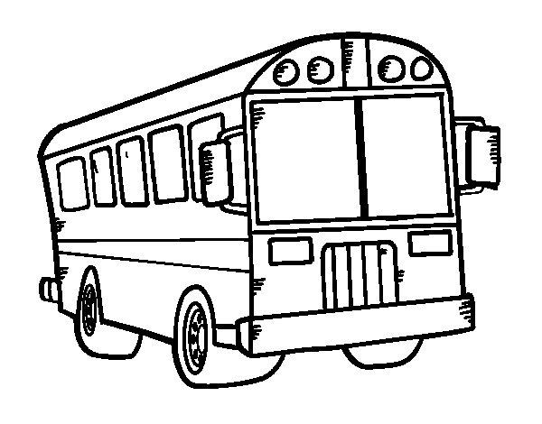 Desenho de Auto escolar para Colorir
