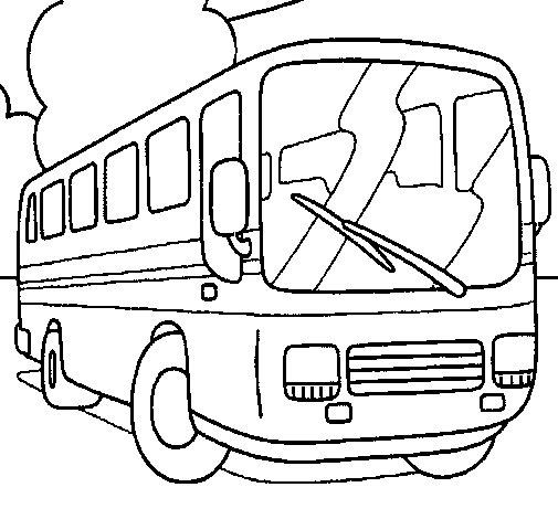 Desenho de Autocarro para Colorir