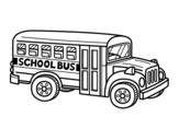 Desenho de Autocarro Escolar dos Estados Unidos para colorear