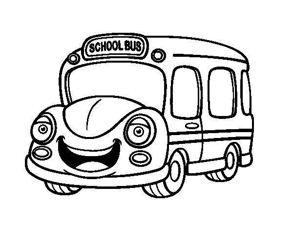 Chivo Dibujo Animado: Desenho De Autocarro Escolar Infantil Para Colorir