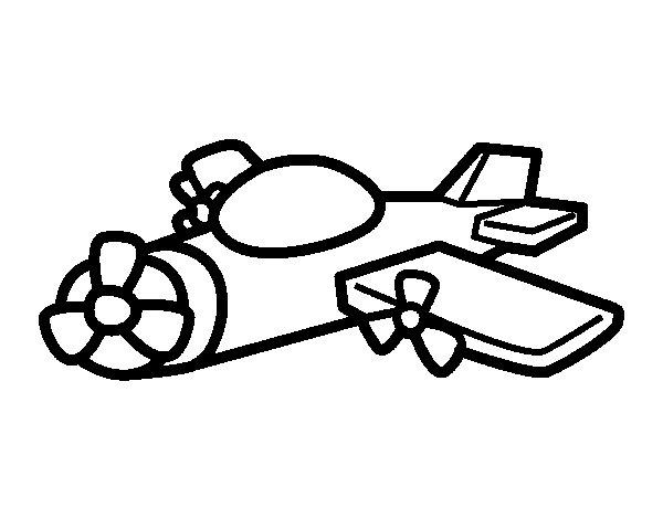 Desenho de Avião hélice para Colorir