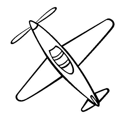 Desenho de Avião III para Colorir - Colorir.com