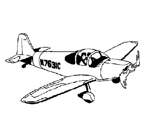 Desenho de Avioneta para Colorir