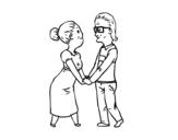 Dibujo de Avós amorosos