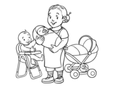 Desenho de Babysitter para colorear