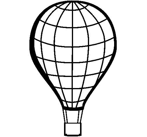 Desenho de Balão de ar quente para Colorir
