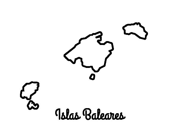 Desenho de Baleares para Colorir