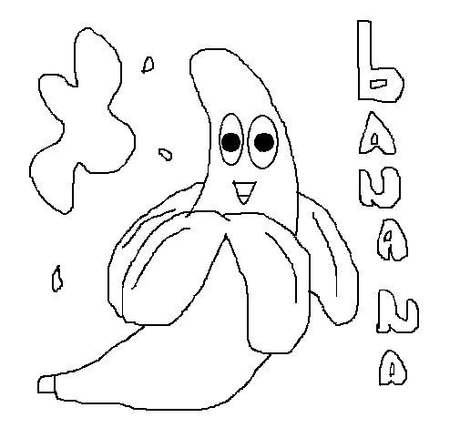 Desenho de Banana para Colorir