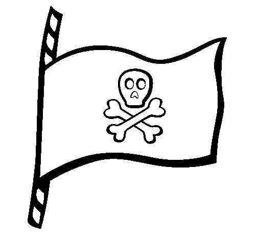 Desenho de Bandeira  para Colorir