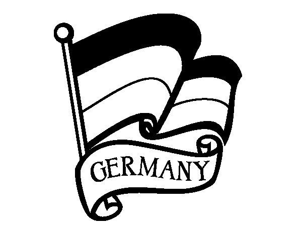 Desenho de Bandeira da Alemanha para Colorir