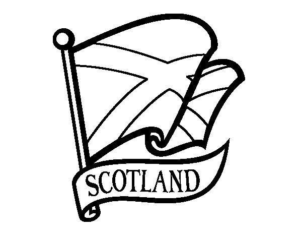 Desenho de Bandeira da Escócia para Colorir