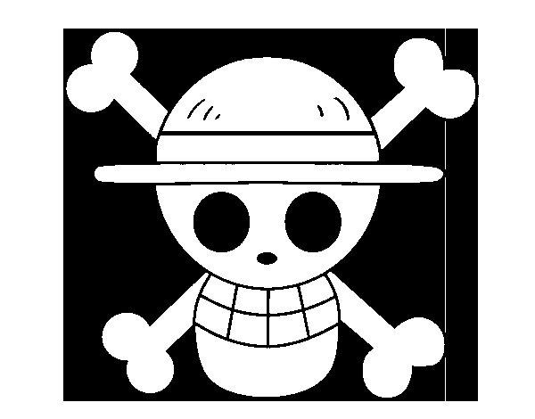 Desenho de Bandeira de chapéu de palha para Colorir