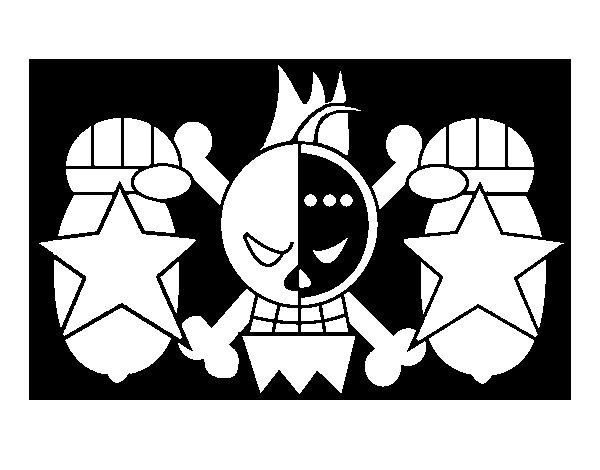 Desenho de Bandeira de Franky para Colorir