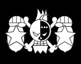 Desenho de Bandeira de Franky para colorear