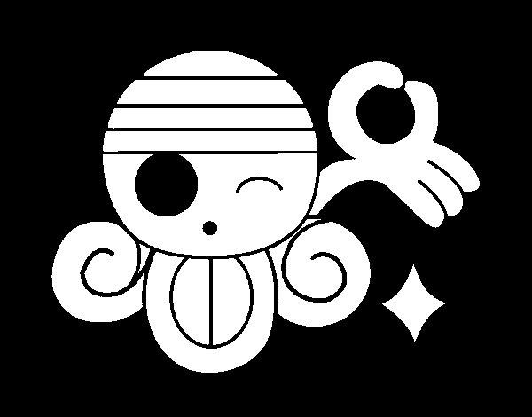 Desenho de Bandeira de Nami para Colorir