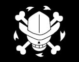 Desenho de Bandeira de Nico Robin para colorear