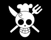 Desenho de Bandeira de Sanji para colorear