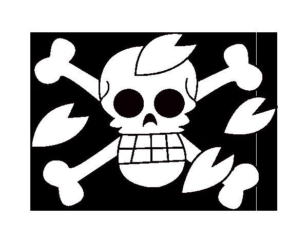 Desenho de Bandeira de Tony para Colorir